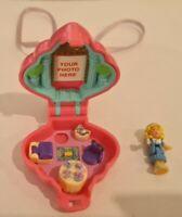 Vintage Polly Pocket BlueBird 1995 Polly's  Tea Time Locket Necklace COMPLETE