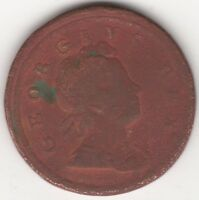 1717 George I Copper Halfpenny Coin | Pennies2Pounds