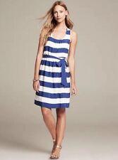 NWT Banana Republic Women's Royal Blue Striped Twist-Strap Dress, Size 6P, $110