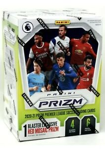 2020/21 PANINI PRIZM PREMIER LEAGUE SOCCER FUTBOL BLASTER BOX Red Mosaic Version
