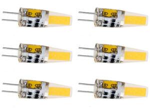 6X G4 LED Lamp 6W COB Silicone LED Bulb 12V AC/DC Mini LED Warm White Light 6pcs