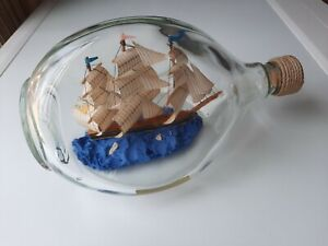 Vintage Sailing Ship In A Bottle Haig Dimple Scotland