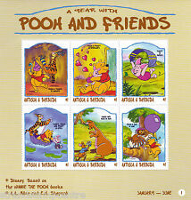 A Year with Pooh & Friends Miniature Sheet from Antigua & Barbuda