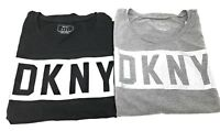 DKNY Womens DKNY Squared Logo Crew Neck Short Sleeve Cotton