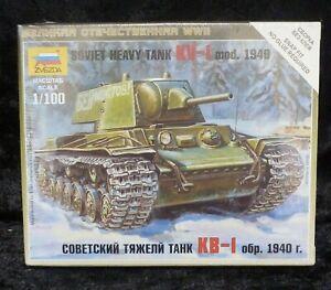 Zvezda 6141 Soviet Heavy Tank 1/100 Scale Model Kit WWII