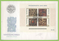 Norway 1993 Stamp Day. Wood Carvings of Acanthus Leaves sheet on First Day Cover