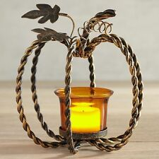 Pier 1 Pumpkin Twist Mini Metal Tealight Candle Holder 3062831 New