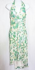 NWT $215 LAUNDRY by SHELLI SEGAL Floral Silk Halter Summer Dress SIZE 2