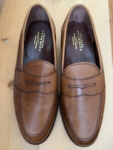Mens Brown Leather Loafer Shoe By Charles Tyrwhitt Size 9/42 Hardly Worn