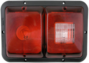 Bargman 34-84-008 #84 Series Recessed Double Tail Lights with Backup Light - Red