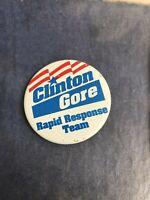 Amazing 38 Campaign Political Buttons Clinton Gore Obama Biden Bush Pin Lot
