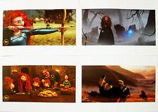 4 BRAVE Disney Store Lithographs Pixar's FREE SHIPPING