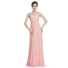 Ärmellose bodenlange Damenkleider aus Chiffon ohne Muster