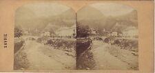 Sallanches Savoie Photo Ferrier ? stéréo Vintage albumine ca 1860