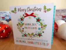 Noël Personnalisé Spécial Couronne Carte Noël Personnalisé Carte de Noël