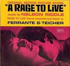 "NELSON RIDDLE / FERRANTE & TEICHER ""A RAGE TO LIVE"" B.O. FILM LP 1965"
