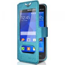 Housse Coque Etui S-view Universel S Couleur Bleu Clair pour Samsung Galaxy Ace