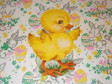 "Vtg Dennison Easter Chick Die Cut Cardboard Decoration 7"" Rare Made In Usa #C"