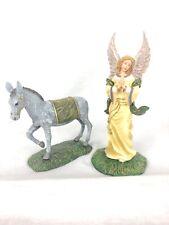 "Hawthorne Village ""Angel Of Hope And Mary's Donkey� Garland Nativity Figurines"