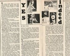 1974 English Rock Band - YES - 3-Page Vintage Article