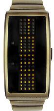 GIORDANO 1223-44 ORANGE LED BLACK DIAL BRACELET WATCH MEN