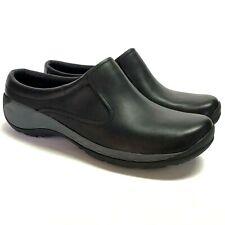 NEW Merrell Encore Q2 Slide LTR Women 7.5 38 Clogs Shoes Black Leather