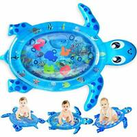Tummy Time Water Mat Infant Baby Toy Inflatable Play Mat for Infants & Toddlers