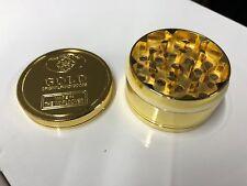 GOLD GRINDER 3 PART HERB CRUSHER MAGNECTTIC METAL ROLLING CATCHER UK GOLD BAR