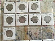 GROUP LOT OF 25 1940-1967 CANADA HALF DOLLAR  SILVER COINS  50 CENT PIECE