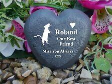 Pet Memorial - Heart - Weatherproof - Personalised - Memorial - Rat