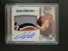 DAVID HOLMBERG 2014 NATIONAL TREASURES REDS 4 COLOR PATCH AUTO ROOKIE RC #06/99