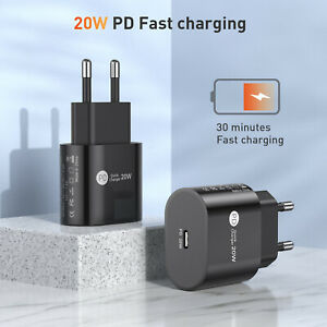 PD20W Ladegerät Typ C Netzteil USB-C Power Adapter For Apple iPhone 12 Pro Max