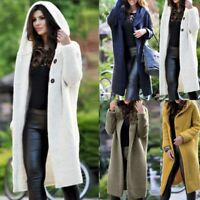 WINTE Women's Baggy Cardigan Coat Tops Ladies Chunky Knitted Sweater Jumper Hood