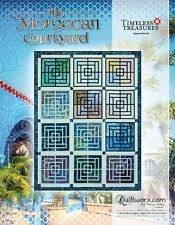 Moroccan Courtyard Foundation Paper Piecing Quilting pattern by Judy Niemeyer