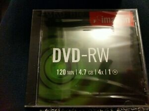 Imation DVD -RW 120 MIN 4.7GB Disk in Jewel Case in original cellophane wrapping