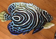 """Blue Angel Fish Pillow Shell Cover Big 29"""" X 18"""" Make Your Own!"""
