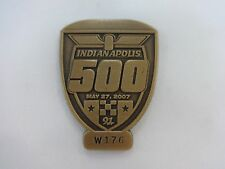 2007 Indianapolis 500 Bronze Pit Badge Dario Franchitti Andretti Green Racing
