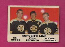 1970-71 OPC # 233 THE ESPOSITO LINE GOOD  CARD (INV# A5840)