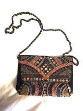 Zara Embellished Black Velvet Crossbody Evening Bag