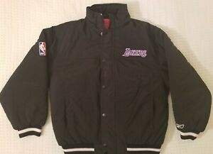 Vintage Reebok Youth Los Angeles Lakers Puffer Jacket Size L 14-16  Excellent !!