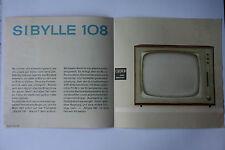 Sammlungsauflösung altes Prospekt RFT radio television Sibylle 108 !!!