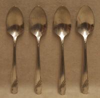 4 Oneida Community Queen BessTeaspoons Spoon Silverware Flatware