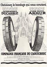 PUBLICITE AUTOMOBILE PNEUS DUCASBLE CIE FRANCAISE DE CAOUTCHOUC CAR  AD 1927