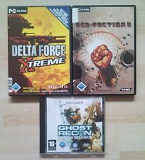 Red Faction II 2 + DELTA FORCE XTREME + Ghost Recon ADVANCE WARFIGHTER raccolta