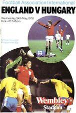 Football Programme>ENGLAND v HUNGARY May 1978