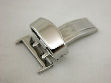 16MM Deployment Buckle SINGLE Clasp Polished Stainless Steel