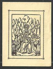 Estampa antigua de la Virgen de Montserrat andachtsbild santino holy card
