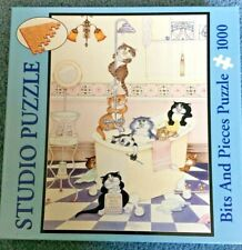 Bits and Pieces Studio Jigsaw Puzzle 1000 Pieces Shower Cats