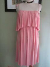 T-Bags pink ruffle peasant top mini dress Size L