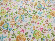 Telas y tejidos floral en tela por metros de 100% algodón para costura y mercería
